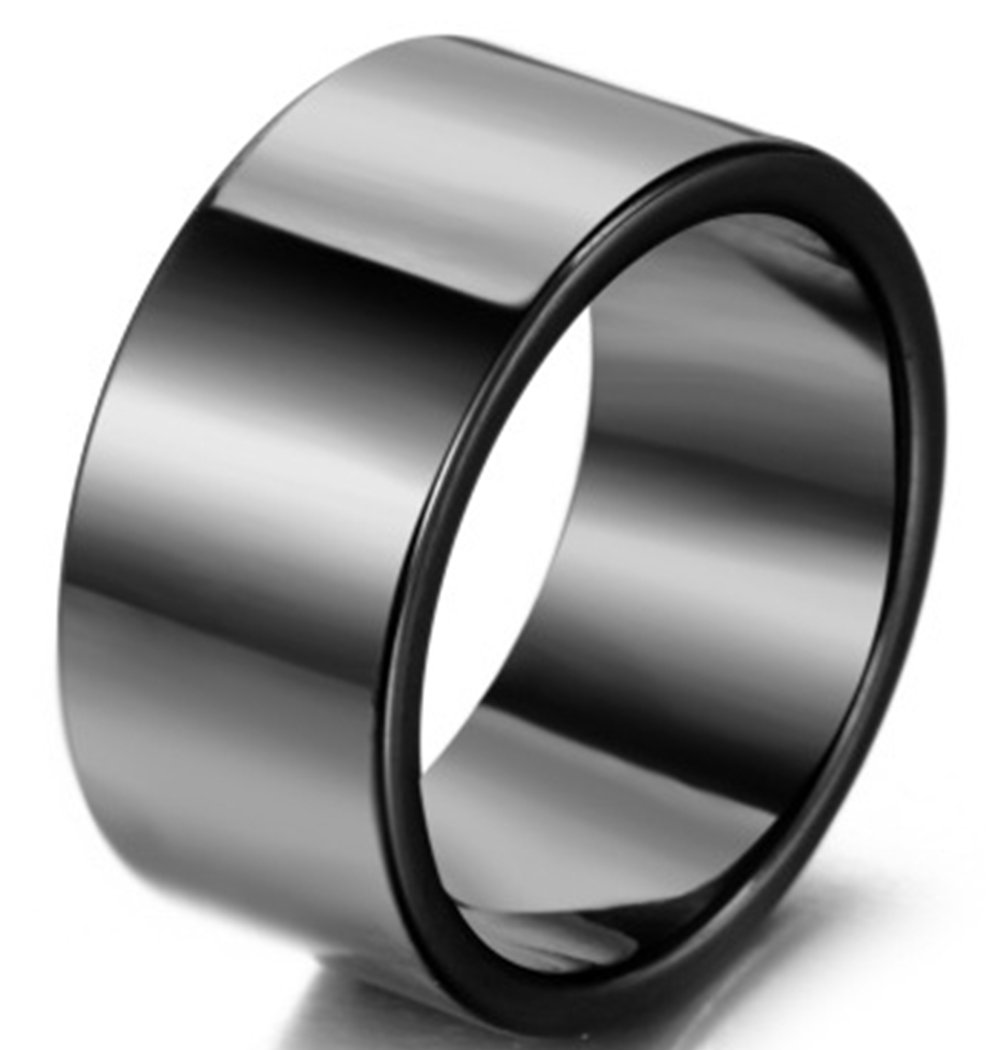 LILILEO Jewelry 10mm Wide Version Black Ceramic Rings For Men's Ring