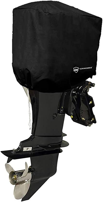 Seamander Outboard Motor Cover 10-200 HP Engines Cover Waterproof Boat Cover