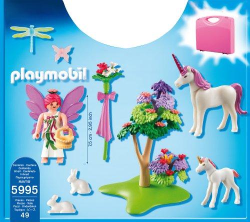 playmobil 5995 jeu de construction valisette fe et licornes amazonfr jeux et jouets
