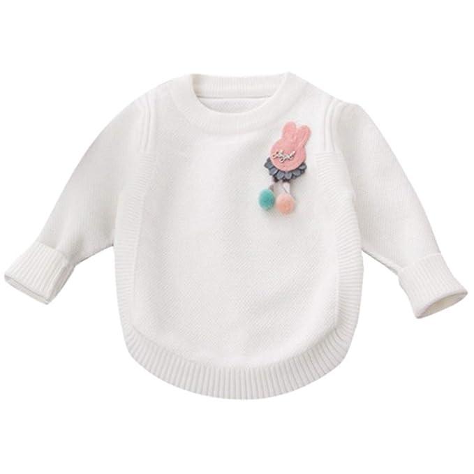 Mitlfuny Invierno Caliente Bebé Niños Niña Dibujos Animados Tejido de Punto Princesa Suéter Tops Ropa Trajes Abrigo: Amazon.es: Ropa y accesorios
