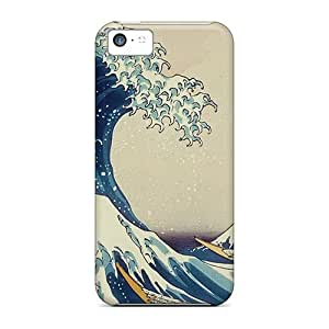 Premium Mac Os X Wave Back Cover Snap On Case For Iphone 5c
