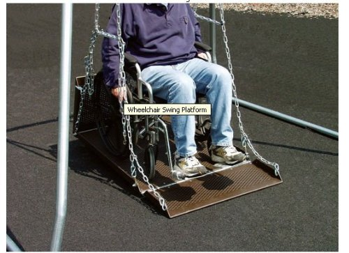Sport Play 382-408 Wheelchair Swing Platform - Adult (Play Wheelchair)