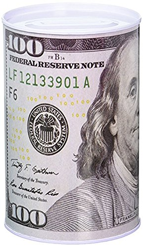 Homebay 100 Dollar Bill Metal Money Coin Piggy Bank