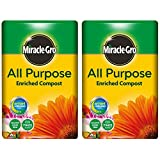 Miracle-Gro All Purpose Enriched Compost 40L x 2 Bags