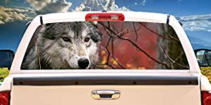 Amazon Com Signmission Gray Wolf Rear Window Graphic