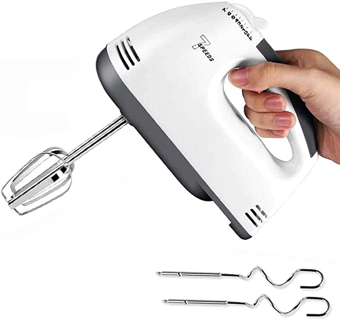 Electric Hand Mixer,Cake Mixer Hand Mixer Electric Cake Beater 7 Speed Powerful Handheld Mixer Food,Handheld Kitchen Mixer Includes Beaters, Dough Hooks