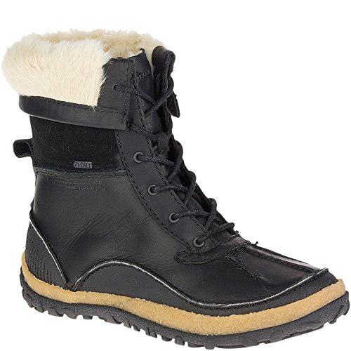 Merrell Women's Tremblant Mid Polar Waterproof Snow Boot, Black, 9 M US - Merrell Winter Boots