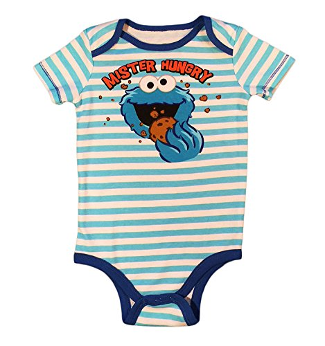 Bentex Sesame Street Cookie Monster Baby Boys' Bodysuit Creeper Dress Up Outfit (24 Months)