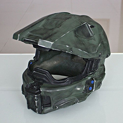 1:1 Halloween Game Costume Cosplay Movie Prop Mask Halo 4/5 Master Chief Helmet (Halo Master Chief Kids Costume)