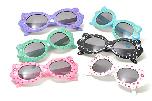 Hello Kitty Style Kids Sunglasses with Ribbon in Assorted - Cents 99 Sunglasses