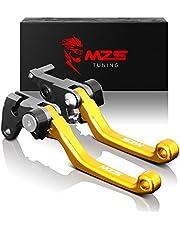 MZS Clutch Brake Levers Pivot Adjustment CNC Gold Compatible with DR200S 2015-2019 | DR250R 1996-2000 | DRZ400S DRZ400SM 2000-2020 | DJEBEL250XC 1998-2007