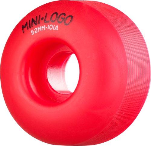 Mini-Logo Skateboards C-Cut 52mm 101A Skateboard Wheel, Red