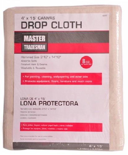 (6) ea Master Tradesman 58908 4' x 15' 8 oz Prof Canvas Painter's Drop Cloths