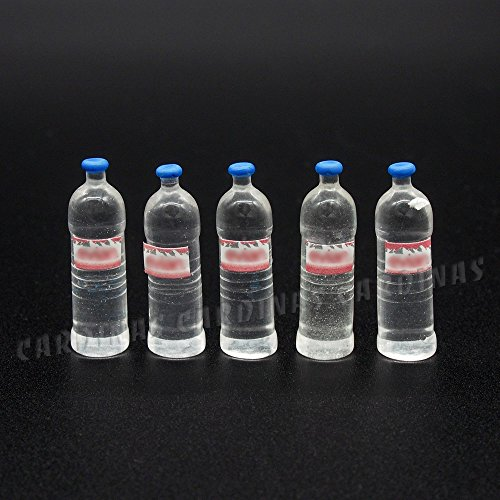 Odoria 1:12 Miniature 5PCS Mineral Water Bottles Dollhouse Kitchen Accessories (Soda Shop Barbie)
