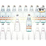 Evian & Acqua Panna Sparkling Natural Mineral Water Variety Pack! 8 oz Glass Bottle (x8 Evian, x8 Acqua Panna - Total of 16 Glass Bottles)