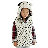 Hanstyle Unisex Toddler/kids/child Cartoon Plush Hooded Vest Costumes, Dot Dog (M(5-9Y))