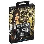 Q WORKSHOP Steampunk Clockwork Black & White Dice Set (7) Board Games 6