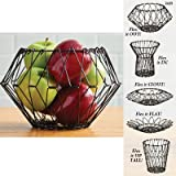 Flexible Wire Basket for Fruit Bread or Decorative Items