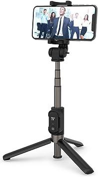 Samsung y m/ás Huawei VAVA Palo Selfie Tr/ípode con Control Remoto Mini Selfie Stick con Mando Bluetooth 2 en 1 Bolsillo Inal/ámbrico Doble Rotaci/ón 360 Grados para iPhone