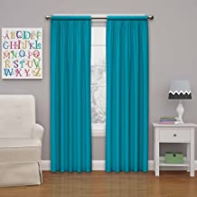 Eclipse Kids Microfiber Blackout Window Curtain Panel, 84-Inch, Rich Teal
