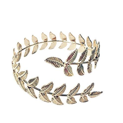 Gold upper arm cuff leaf branch bracelet - Gold Leaf Cuff