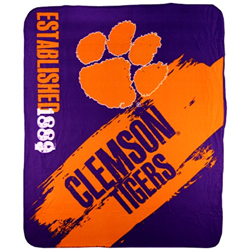 The Northwest Company NCAA Collegiate School Logo Fleece Blanket (Clemson Tigers)