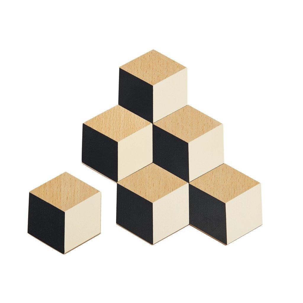 Areaware Table Tiles (Black/Beige) BOTTBB