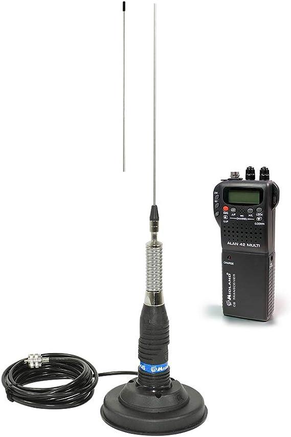 Midland Mid Pack14 Kit Radio Cb Alan 42 Antenne Ml145 Mit Magnet Schwarz Heimkino Tv Video