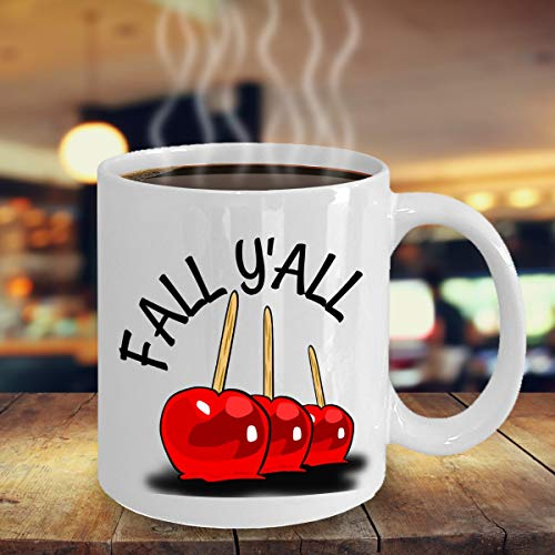 Halloween Candy Apple Mug - Fall Candy Apple Mug - Country Halloween Mug - Novelty Fall Mug - Autumn -