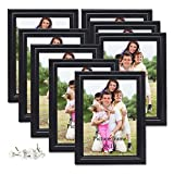 8x10 Picture Frames Black 8 by 10 Decorative Poster Frame Wall and Desktop Display, Set of 8