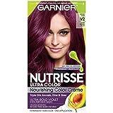 Garnier Nutrisse Ultra Color Nourishing Hair Color Creme, V2 Dark Intense Violet (Packaging May Vary)