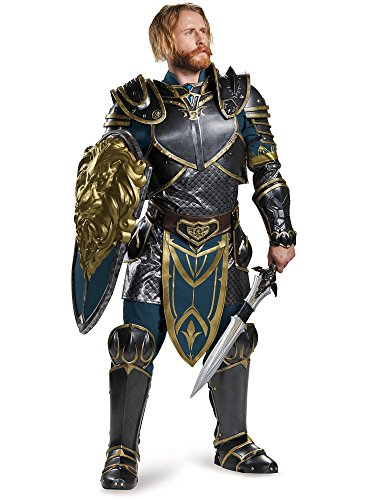 Disguise Men's Warcraft Lothar Prestige Costume, Multi, X-Large