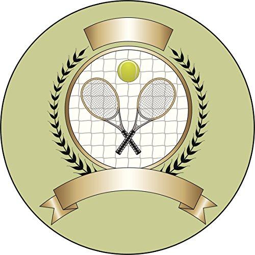 Championship Tennis Tournament Badge Cartoon Vinyl Decal Sticker (8