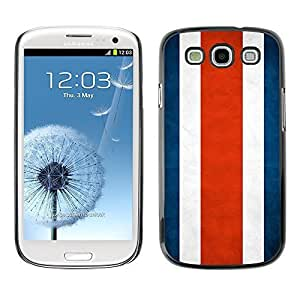 Shell-Star ( National Flag Series-Costa Rica ) Snap On Hard Protective Case For Samsung Galaxy S3 III / i9300 i717