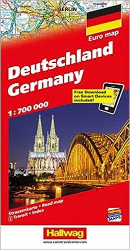 Deutschland Strassenkarte Germany Road Map Distoguide Hallwag