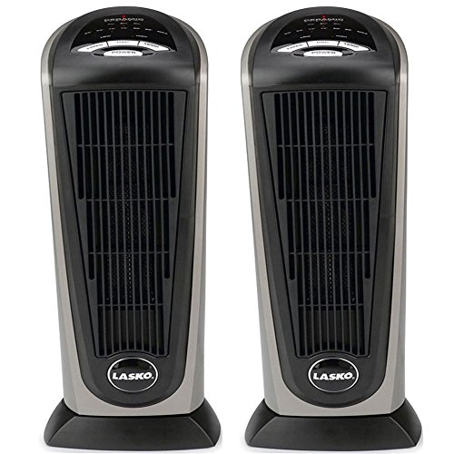 Lasko 751320 Ceramic Tower Heater with Remote Control 2-Pack