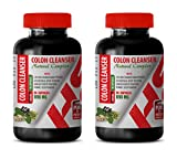 Digestion aid Pills - Colon Cleanser - Natural Complex - Ginger Root Capsule - 2 Bottles 180 Capsules