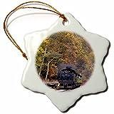 3dRose West Virginia, Cass Scenic Railroad, Steam Train - Us49 Wbi0030 - Walter Bibikow - Snowflake Ornament, Porcelain, 3-Inch (ORN_97085_1)