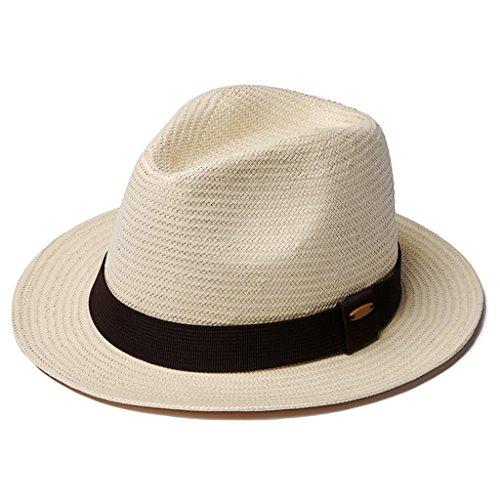 Tejido yue estrecho Panamá De Sombrero Pareja A Mano Hombres Caqui Ropa Sol xIZO6dq6