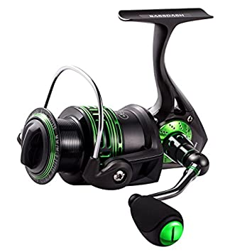 Bassdash Alien All Carbon Lightweight Spinning Fishing Reel, BlueMagic Reel with Aluminum Body Carbon Rotor, Corrosion Resistant Bearings Carbon Fiber Drag, in Sizes 1000, 2000, 3000, 4000, 5000