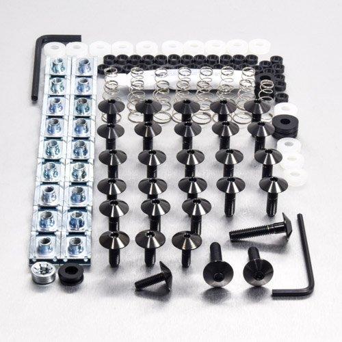 Stainless Steel Fairing Kit Yamaha YBR 125 Black