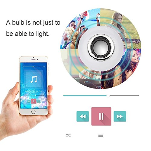 Texsens Led Light Bulb With Integrated Bluetooth Speaker 6w E27 Rgb Changing Lamp