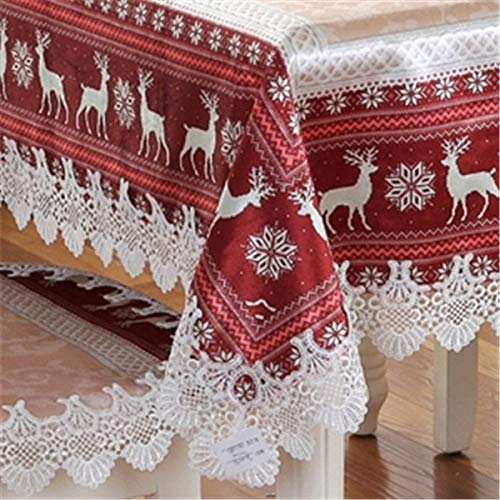 Proud Rose European Table Cloth Scandinavian Tablecloths Chair Cover Coffee Table Cloth Christmas Cartoon Table Cover  Red B07SCHJF11