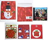 Pack of 8 Christmas Gift Wrappers for CD's (Compact Discs)
