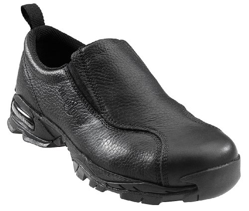 - Nautilus 1630 Full Grain Leather ESD  Safety Toe Slip-On,Black,10.5 W