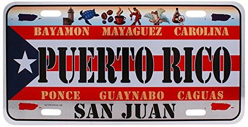 Puerto Rico Usa Rum (Dimension 9 Home Decorative Plate, Puerto Rico)