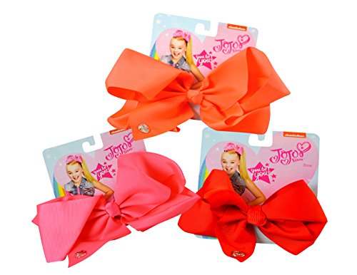3-PACK, JoJo Siwa Blush Palette Signature Hair Bows ()