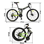 Bike-26-Pollici-24-velocit-Mountain-Pieghevole-Assorbimento-degli-Urti-Anteriore-E-Posteriore-Doppio-Freno-A-Disco-Alunno-Auto-per-Il-Tempo-Libero-velocit-Variabile-Bicicletta-Coda-Morbida-SUV