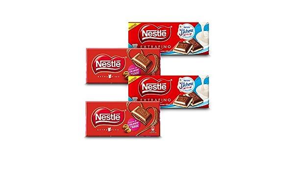 Nestlé Chocolate Extrafino - Pack de 2 Relleno de Kikos (120 g) + Pack de 2 Crema de Leche (120 g): Amazon.es: Alimentación y bebidas