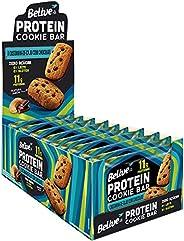 Cookie Bar Protein Castanha de Caju com Chocolate Sem Açúcar Sem Glúten Sem Lactose Belive 40g Display com 10